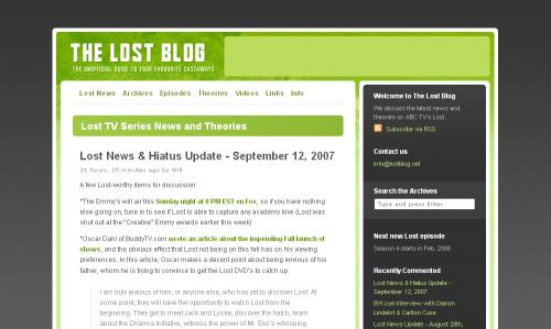 the lost blog