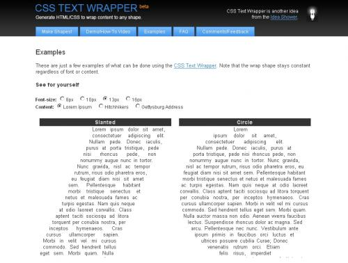 css text wrapper